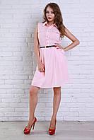 Платье из штапеля рубашечного фасона