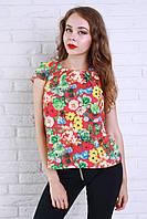 Красивая и стильная блуза из шелк шифона ярких расцветок