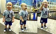 """Детский красивый костюм """"Jordan"""": футболка, шорты (4 цвета)"""