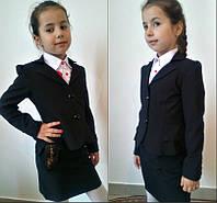 Школьный черный пиджак для девочки