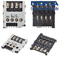 Коннектор SIM-карты для Nokia X Dual Sim, оригинал