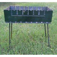 Большой мангал чемодан на 12 шампуров, качественная сталь 2 мм, 71*28*4 см, ножки 68 см, 11,2 кг