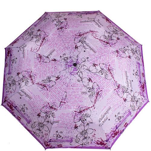 Женский интересный зонт полуавтомат AIRTON (АЭРТОН) Z3615-96  Розовый Антиветер