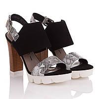 Босоножки женские Nessi (стильное сочетание фактур, на высоком устойчивом каблуке, оригинальный дизайн, удобны