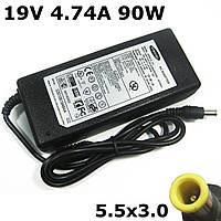 Зарядка для ноутбука Самсунг, А класс, 5,5*3мм штекер, 19V, 4.74A, 90W