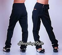 Школьные брюки Бантик сбоку для девочки на флисе
