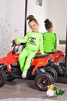 """Детский стильный костюмчик для девочки """"Chanel"""": кофта и штаны"""
