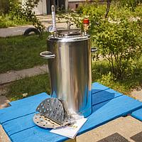 Автоклав Люкс-21 из нержавеющей стали для домашнего консервирования