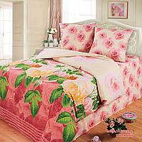 Постельное белье Любимый дом, полуторное, дизайн Розарий Розовый