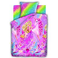Постельное белье Барби и потайная дверь, полуторное, дизайн Принцесса Алекса