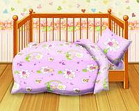 Постельное белье Кошки мышки, в детскую кроватку, дизайн Малыши 1