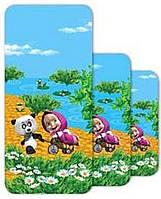 Полотенце детское махровое Маша и Медведь, 110х140 см, дизайн Панда в гостях