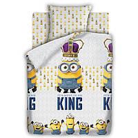 Постельное белье для детей Миньоны, полуторное, дизайн Кинг