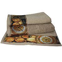 Набор из 3-х махровых полотенец Романтика в подарочной упаковке, комплект: 35х70 см, 50х90 см, 60х130 см, дизайн Антик капучино