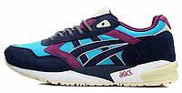 Мужские кроссовки Asics Gel Saga Blue (асикс гель) синие