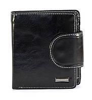 Черный горизонтальный тройной женский кошелек на кнопке FUERDANNI art. 4479