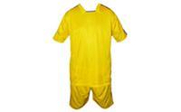 Форма футбольная без номера CO-0490-Y (PL, р-р L-48-50, XL-50-52, 2XL-52-54, желто-синий)