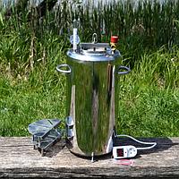 Автоклав электрический/огневой Люкс-21Э из нержавеющей стали для домашнего консервирования