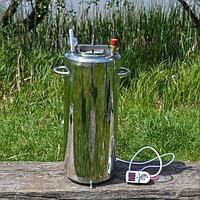 Автоклав электрический/огневой Люкс-28Э из нержавеющей стали для домашнего консервирования