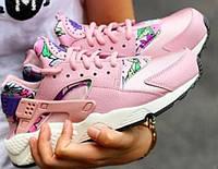 Кроссовки унисекс Nike Air Huarache розовые