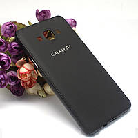 Бампер с пластиковой панелью для Samsung Galaxy A7 - черный