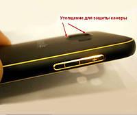 Бампер с пластиковой панелью для Samsung Galaxy A5 - черный