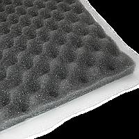 Шумоизоляция PRACTIK Flex  15 мм пенополиуретан 75х100 см с клеем и пирамидальной поверхностью