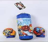Боксерский набор 20114-3B груша с перчатками, в сетке 41см
