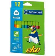 """Фломастеры """"Centropen"""" 12 цветов  Eko  не токсичны для самых маленьких детей"""