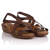 Сандалии женские Presso (Испания, кожаные, коричневые, практичные, комфортные, удобные, стильные)