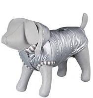 """Trixie TX-67527 M пальто """"Dog Prince"""" с капюшоном для собак 45см, серый"""