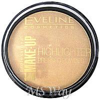 """Eveline - Пудра компактная """"Highlighter Pressed Powder"""" Осветляющая пудра (тон 55 golden) 12г"""