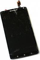 Дисплей (экран) + сенсор (тач скрин) LENOVO S930 black (оригинал)