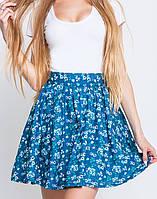 Летняя юбка клеш | Лика цветы leo
