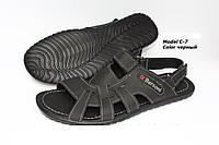 Мужские кожаные летние сандалии 2 цвета размеры 40-45
