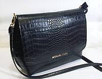 Стильная женская  сумка Michael Kors черного цвета  с элементами крокодиловой кожи