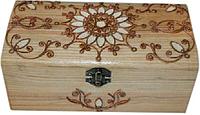Деревянная Шкатулка с металлическим декором 172021 Дерево