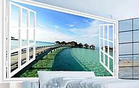 """3D фотообои """"Вид с окна на океан"""""""