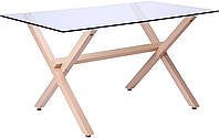 Стол обеденный Vesca Каркас бук/стекло прозрачное