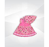 Платье с косынкой для девочки, 100 % хлопок, кулир. р.р.28-30.