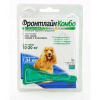 Merial Frontline Combo М капли для собак от 10 до 20 кг 1пипетка