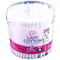 Ватные палочки Lady cotton 200 шт банка