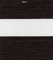 """Рулонные шторы системы """"День-ночь"""" (зебра) венге, РАЗМЕР 47,5х160 см"""