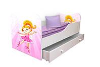 Кровать детская с рисунком 140*70см + ящик