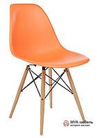 "Стул ""Eames DSW"" (Wood) (ПЛ оранжевый)"