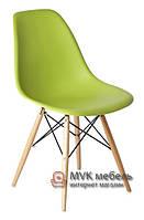 """Стул """"Eames DSW"""" (Wood) (ПЛ зеленый)"""