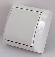 Выключатель одинарный LXL TERRA 2201 белый