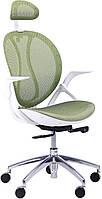 Кресло Lotus HR пластик белый/сетка зеленая