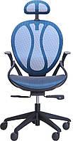 Кресло Lotus HR пластик черный/сетка синяя