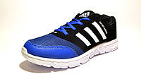 Кроссовки мужские Adidas текстиль, черные с синим (адидас)р.42,43